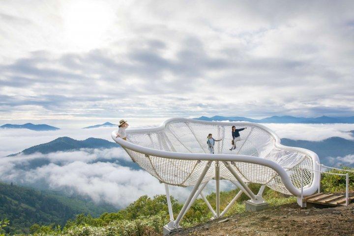 【トマム】雲海テラス Cloud Pool(クラウドプール)人あり2 雲海