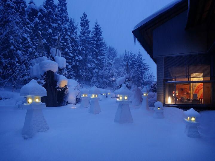 【界津軽】こぎん雪燈籠 720×540