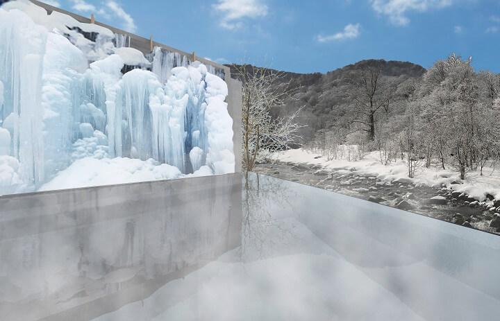 【奥入瀬】氷瀑の湯 (1)