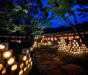 冬の庭を灯す催し「大谷石灯り」開催