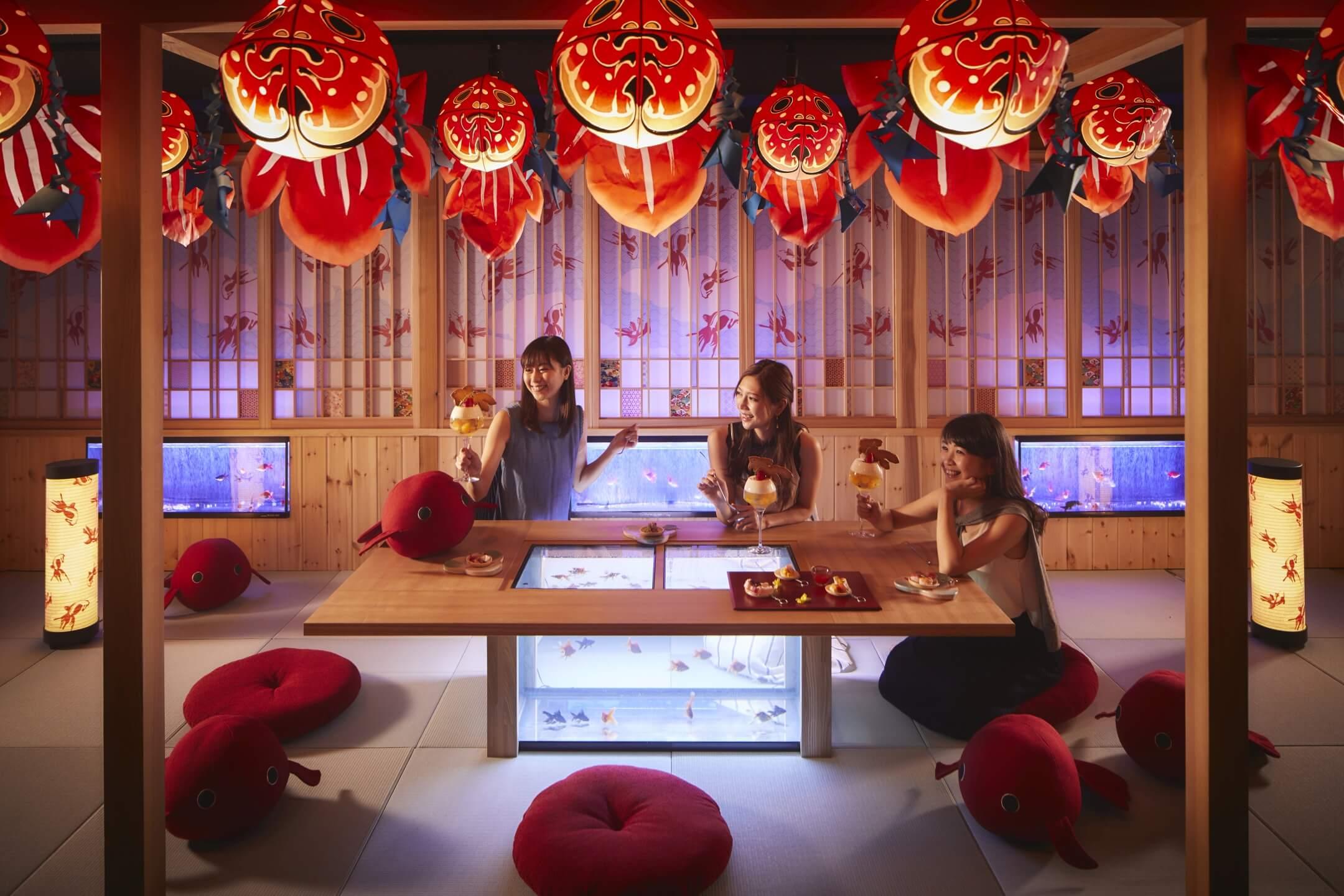 青森屋】金魚型の灯篭をテーマにした「金魚ねぷた処」登場 ~1日1組限定で女子会ができる貸切空間~|期間:2019年6月1日〜8月31日 |  ニュースリリース | お知らせ | 星野リゾート【公式】
